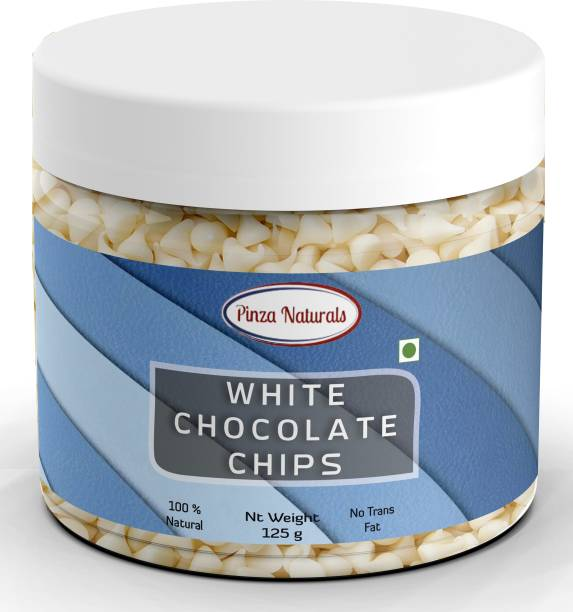 Pinza Naturals White Choco Chips I Ideal for Cake toppings Decoration & Baking I Chocolate Chip sprinklers Topping