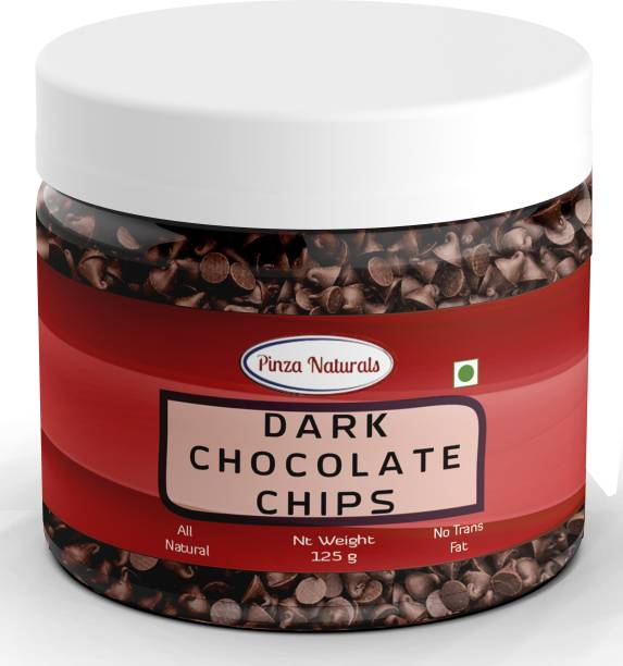 Pinza Naturals Dark Choco Chips I Ideal for Cake toppings Decoration & Baking I Chocolate Chip sprinklers Topping