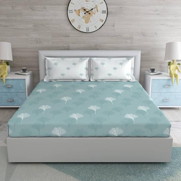 DUROFLEX 120 TC Cotton Double Floral Bedsheet