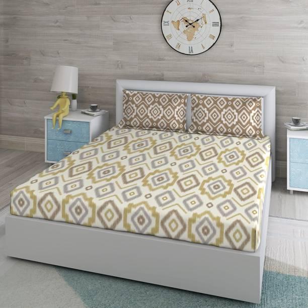 DUROFLEX 144 TC Cotton Double Printed Bedsheet