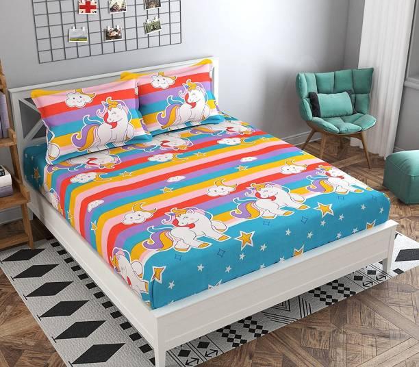 Kawi 200 TC Polycotton Double Printed Bedsheet