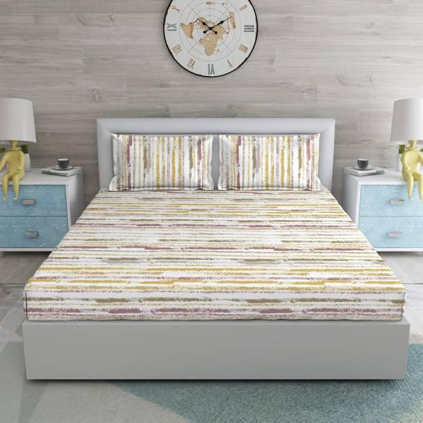 DUROFLEX 144 TC Cotton Double Striped Bedsheet