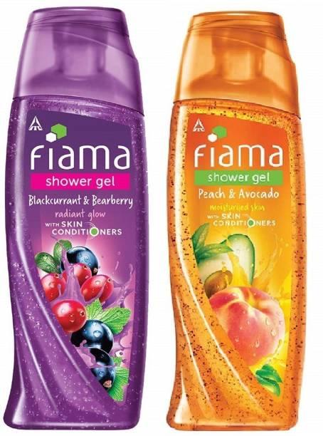 FIAMA Peach + Blackcurrant Body Wash 250ml*Pack of 2 TS