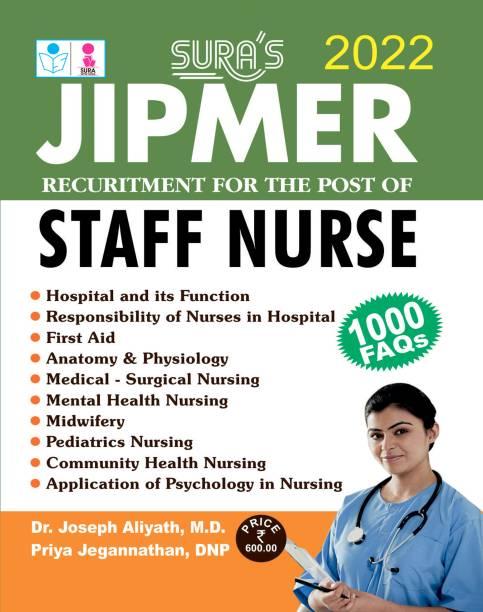 SURA'S JIPMER Recruitment For The Post of STAFF NURSE Exam Book - 2022 Latest Edition