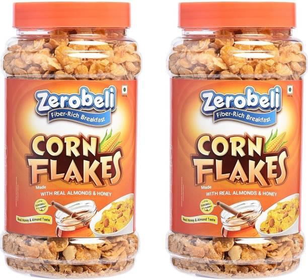 Zerobeli Real Honey and Almond Corn Flakes 600gm