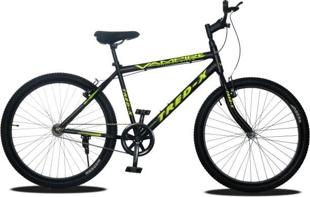 Vampire Tred-X Hybrid Cycle/City Bike (Single Speed, Green/Black) 26 T Road Cycle