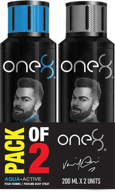 one8 by Virat Kohli Deo Pack of 2 (Aqua & Active) Deodorant Spray  -  For Men