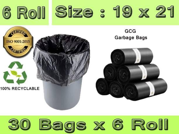 GCG PACK OF 6 Medium 15 L Garbage Bag