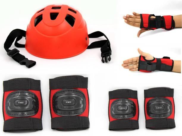 Velma Skating Protection kit(Helmet,1Pair Of KneeCap,1Pair Of ElbowCap,1Pair of Pam Kit) Skating Guard Combo