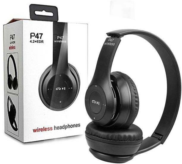 rich hood P47 Foldable/Sports/Office/ Gaming Wireless Headphone with Mic Bluetooth Headset