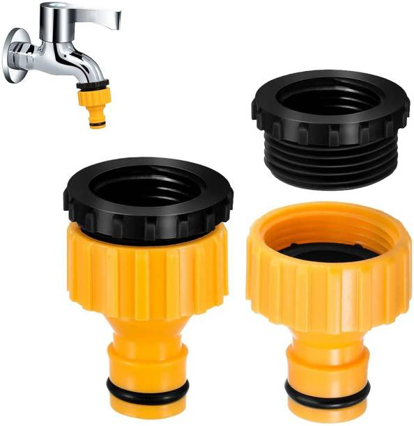 SHAFIRE Female Adapter - Reducer and Standard Hose Connector - 2 Pc Set for Irritation Taps Hose Connector