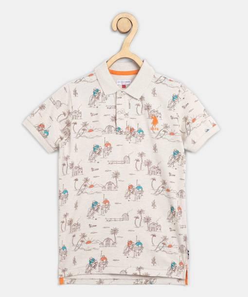 US Polo Kids Boys Graphic Print Pure Cotton T Shirt