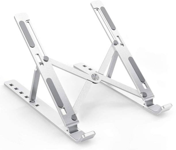 Dilurban Presenting A Good Quality Laptop Stand, 7 Adjustable Height Angles, Plastic , Ergonomic & Sturdy Design, Foldable Holder, Compatible with All Laptops and Tablets Laptop Stand Laptop Stand