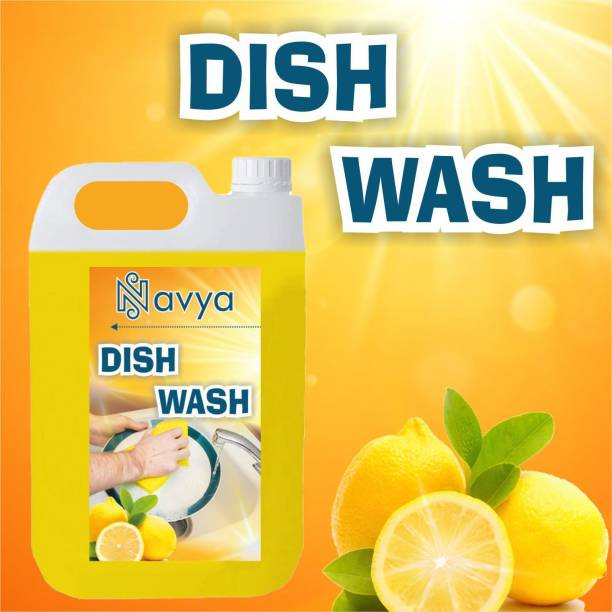 Navya 5 LTR Non Acidic dish wash Liquid Detergent (5 l) Dish Cleaning Gel (lemon, 5 L) Dishwash Bar (5000 g) Dishwash Bar