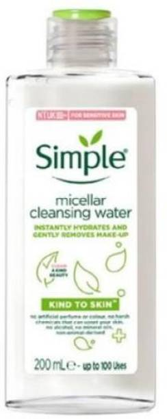 Simple Kind To Skin Micellar Cleansing Water 200ml Makeup Remover