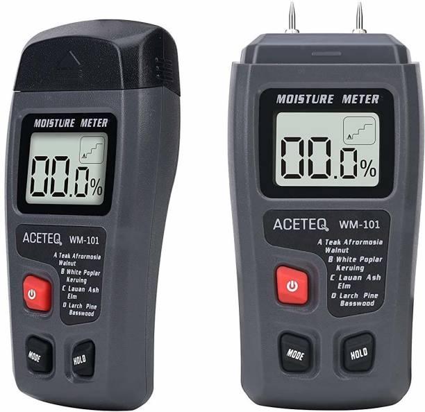 DR YONIMED Digital Wood Moisture Meter WM 101 Large LCD Display Pin-Type Digital Moisture Measurer
