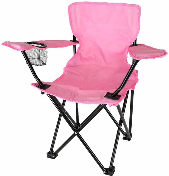 IRIS Heavy Duty Folding Arm Chair with Comfortable Tilted Back Metal Outdoor Chair