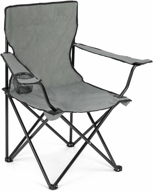 SKYZONE Folding Camping Big Foldable Chair Light Weight Portable Chair with arm Rest and Cup Holder, Garden Fishing Beach Picnic Outdoor Chairs Beach, Travelling, Lawn Metal Outdoor Chair