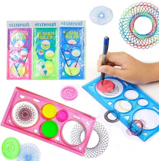 CRAZYGOL Spirograph Geometric Ruler Drafting Tools Stationery for Students Drawing Ruler