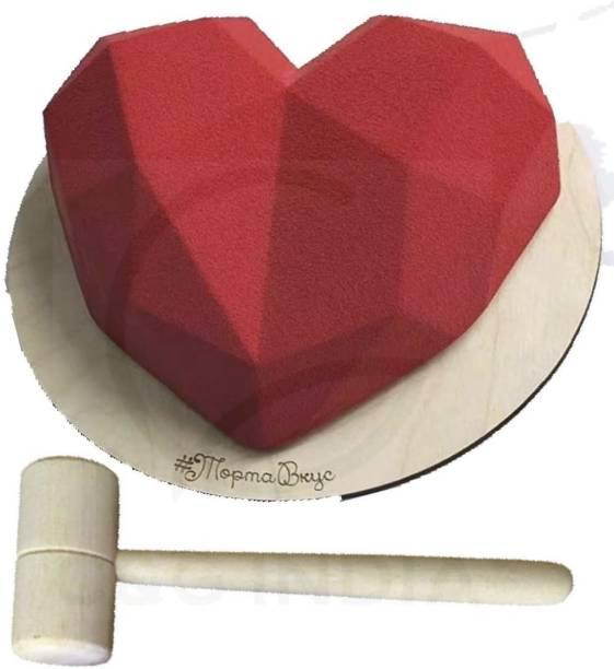 OTIZ OTIZ Pinata Geometrical/Diamond 1 Heart Shape Pinata Chocolate Cake Mould (Pack Of 1 ) Pull String Pinata