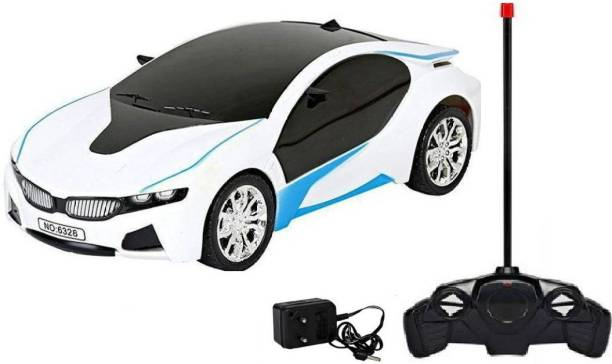jasan Rechargeable RC BMW Scale Remote controlled Car With 3d Light White