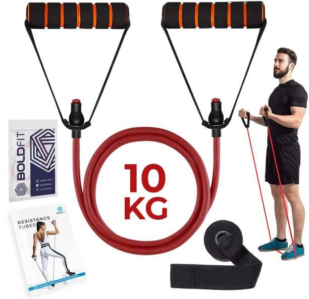 BOLDFIT Resistance Tube, Exercise & Stretching Resistance Band Set For Men & Women Workout Resistance Tube