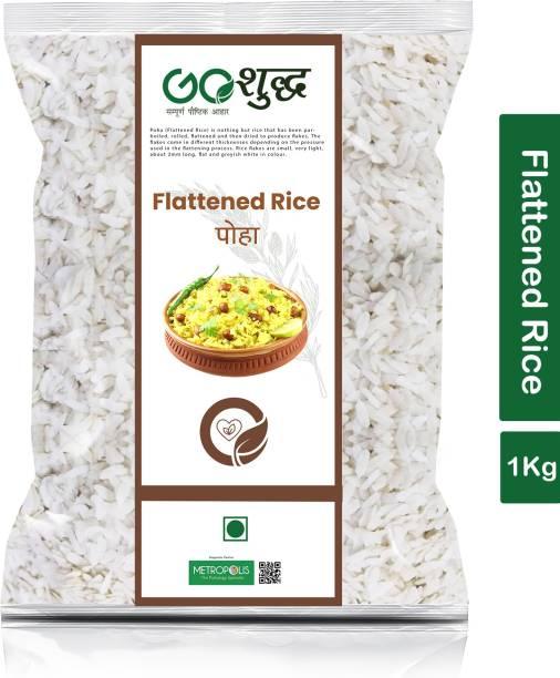 Goshudh Premium Quality Flattened Rice/ Poha 1 kg Packing Poha (Raw)