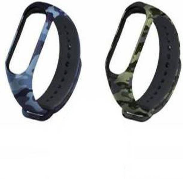 Delmohut Pack of 2 Silicone M3 and M4 Band Strap for Xiaomi Mi Band 3 & Mi Band 4 Smart Band Strap