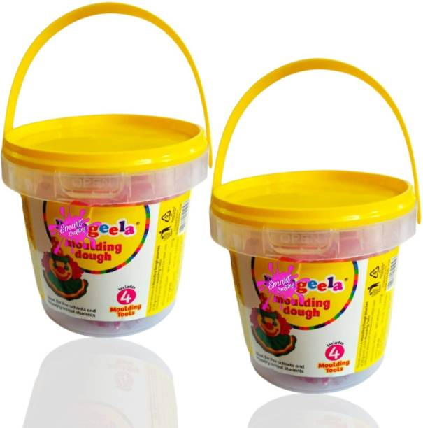 SmartCrafting Combination of Large Size Bouncing Clay with Tools for Kids and Art & Craft & Fun Bucket Clay 12 Colors. Art Clay