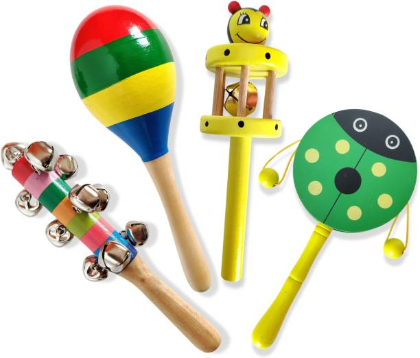 ZeroOneCraft Baby Rattle Wooden Musical Infant Toys for Boys Girls Rattle