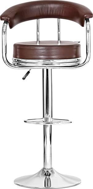 Da URBAN Classic Brown Leatherette Bar Stool