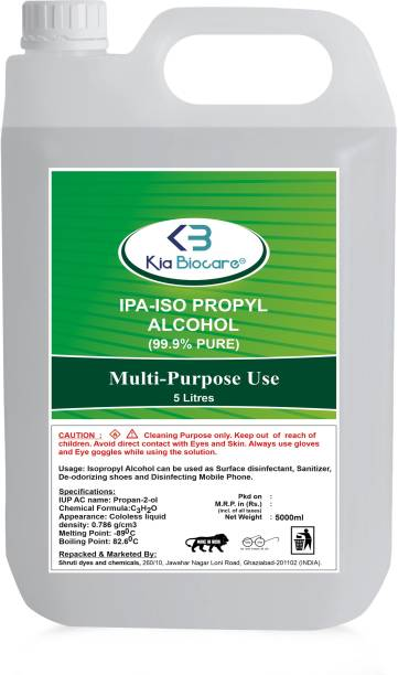 KIA BIOCARE ISO PROPYL ALCOHOL 99% PURE (CH3 2-CH-OH CAS: 67-63-0, 5 L) for Computers, Laptops, Mobiles for Computers, Laptops, Mobiles