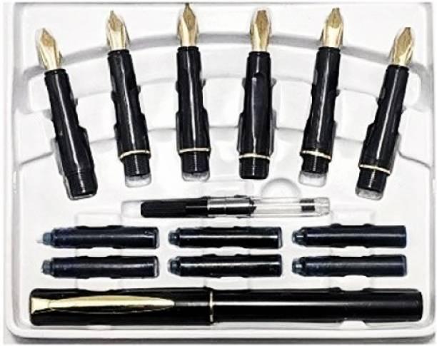 CRAZYGOL Drawing 6 Calligraphy Nib Shaped Color Pencils