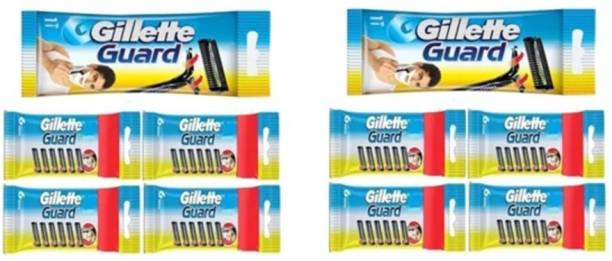 GILLETTE Combo Guard Cartridge With Razor (50Cartridge + 2 Razor Handle) Pack of 52 Items by Rmr JaiHind