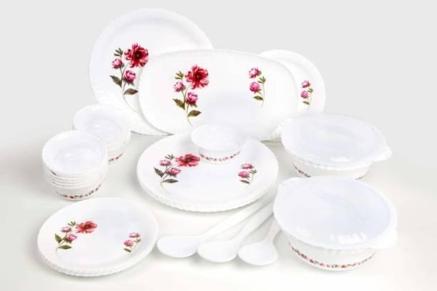 shree handicraft Pack of 32 Porcelain Dinner Set