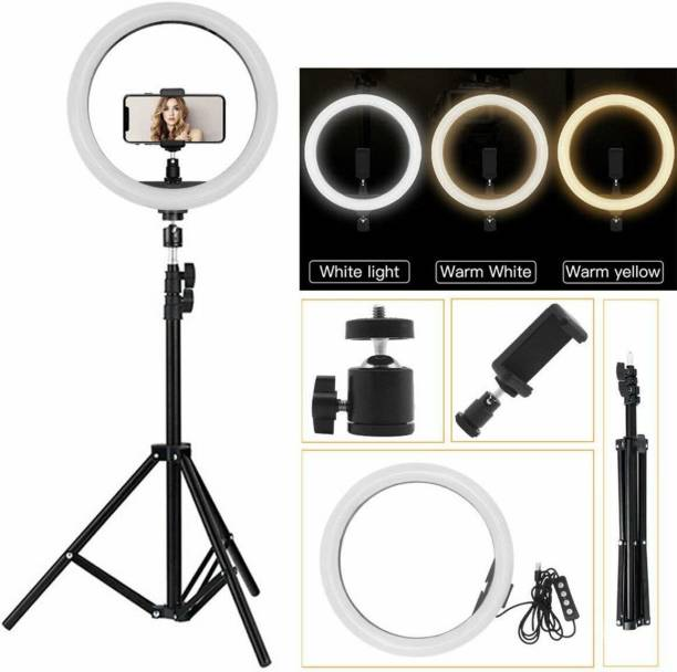 Style Tech EVO_465U 10 Inch Ring Light with 7.5 feet Tripod New Selfie Flash Ring Light  Mobile Selfie Flash Light  Led Camera Photography for Smartphone, Studio, Musically, Tiktok, You Tube, Make up, Live Streaming Ring Flash Ring Flash