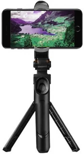 RichHood New Arrival XT-02 Wireless Mini Live Broadcast Extendable Bluetooth Selfie Stick Cum Tripod for All Smartphones 3 Axis Gimbal