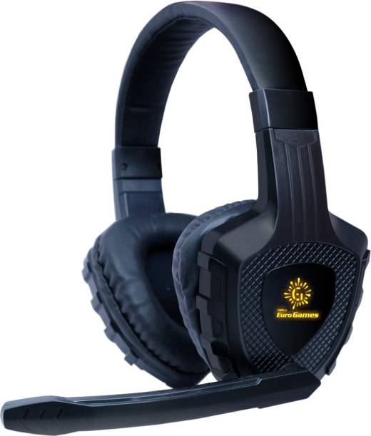 RPM Euro Games Premium Gaming Headphones Earphones With LED, Mic, 4D Sound Wired Gaming Headset