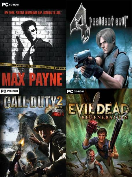 Max Payne, Resident Evil 4, COD 2, Evil Dead Top Four Game (Offline Only) (Regular)