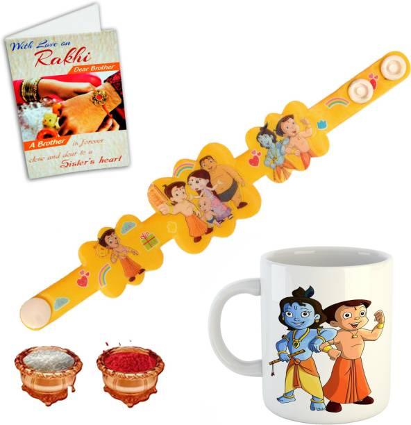 BuyersCue Kids Rakhi, Chawal Roli Pack, Mug, Greeting Card  Set