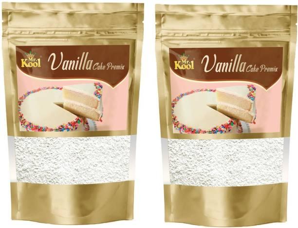 Mr.Kool Instant Eggless Vanilla Cake Premix Powder 200g Combo Pack 100g for Cake Baking   Pastry   Cookies (Eggless) 200 g