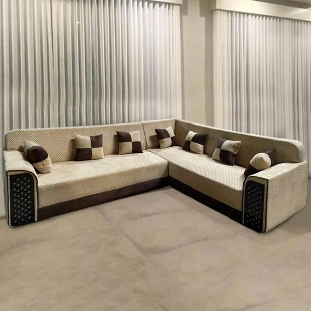 ELTOP Fabric 6 Seater  Sofa