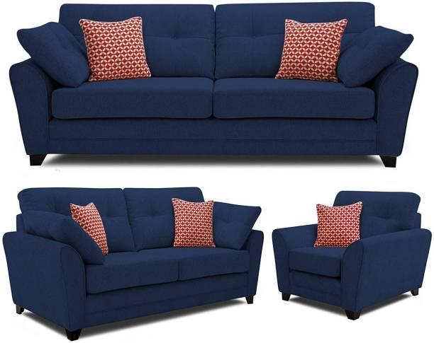 BHARATH ENTERPRISES Fabric 3 + 2 + 1 BLUE Sofa Set