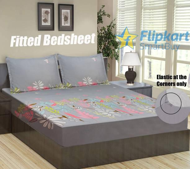 Flipkart SmartBuy 144 TC Microfiber Double Floral Bedsheet