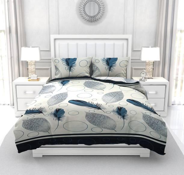 dremik 144 TC Microfiber Double Floral Bedsheet