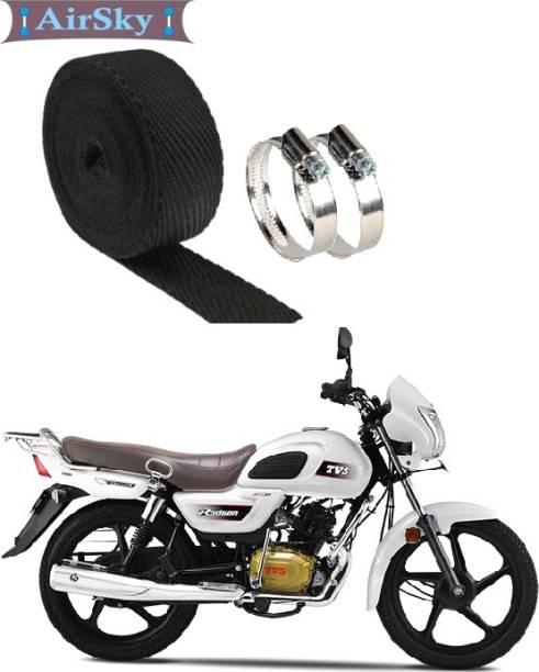 AIRSKY (Black 3 Mtrs) Bike Exhaust Heat Shield Bike Exhaust Heat Shield