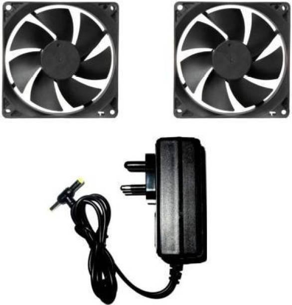 22 TECH DC FAN 2 Cabinet Fan - 80X80X25MM (12 VOLT) Cooler with 12v/2 AMP Adaptor Cooler