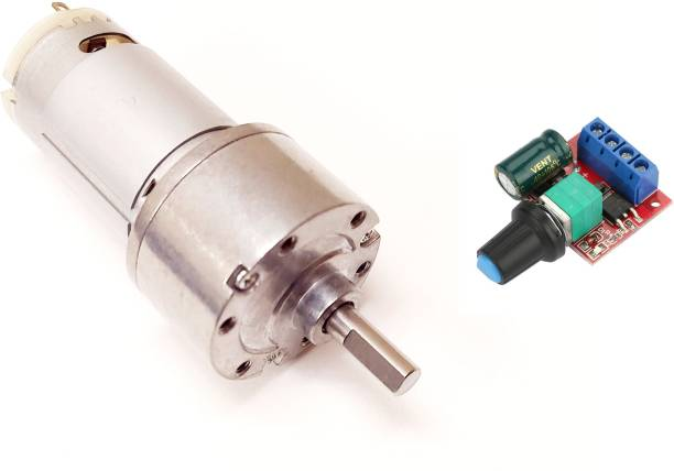 ERH India 12v DC Gear Motor 12V 200-1000 RPM Johnson Geared Motor DC Geared Motor High Torque DC Gear Motor for DIY Robotics Projects with PWM Motor Speed Controller Electronic Components Electronic Hobby Kit
