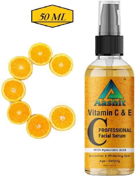 Aashit Professional Vitamin C and E Face Serum - Skin Brightening Serum , Anti-Aging, Skin Repair, Supercharged Face Serum, Dark Circle, Fine Line & Sun Damage Corrector Face Serum
