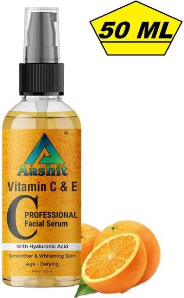 Aashit Professional Vitamin C Face Serum - Skin Brightening Serum , Anti-Aging, Skin Repair, Supercharged Face Serum, Dark Circle, Fine Line & Sun Damage Corrector Face Serum